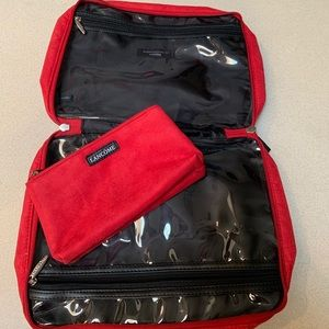 Lancome Makeup - Red LANCOME Travel Makeup Case FULL SIZE